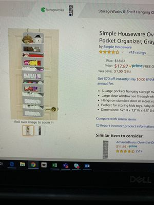 Closet organizer just for $7 for Sale in San Jose, CA