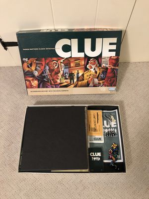 Brand New and Complete Classic Detective CLUE Board Game (2002) for Sale in Turners Falls, MA