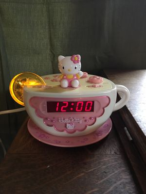 Hello Kitty Tea Cup Alarm Clock Light Up for Sale in West Linn, OR