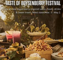 Taste Of Boysenberry Festival @ Knott's Mar 6th (Sold out) for Sale in Long Beach,  CA
