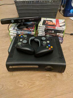 Xbox 360 + 2 controllers + 16 games for Sale in Coronado, CA