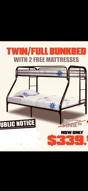 Deal of the month Brand new Twin Full Bunk Bed with Mattress for Sale in Milwaukee, WI