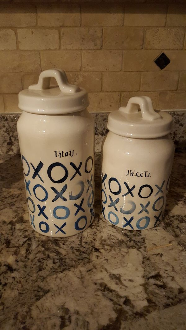 RAE DUNN canisters, new