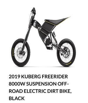 Kuberg electric dirt bike $2495 or trade for small pedal assist mountain bike form wife this one has too much power for her for Sale in Brentwood, CA