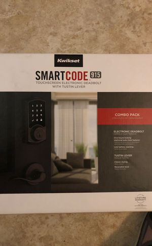 Kwickset Smart code 915 Touchscreen Electronic deadbolt w/Tustin lever COMBO PACK for Sale in Phoenix, AZ
