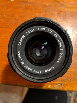 Let us M72G, cannon zoom lens fd 35-70mm, and 200 mm lens attachment for Sale in Chicago, IL