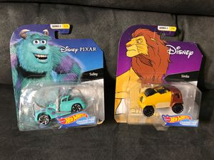 2 for $10 Hotwheels sulley and simba Disney Pixar new for Sale in Downey, CA