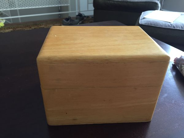 All wood recipe box