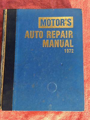"""Motors Auto Repair Manual """"1972"""" for Sale in Newark, CA"""
