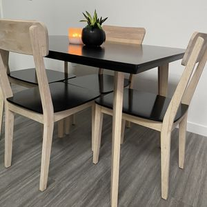 Black & Wood Dining table - 4 Person Table for Sale in Portland, OR