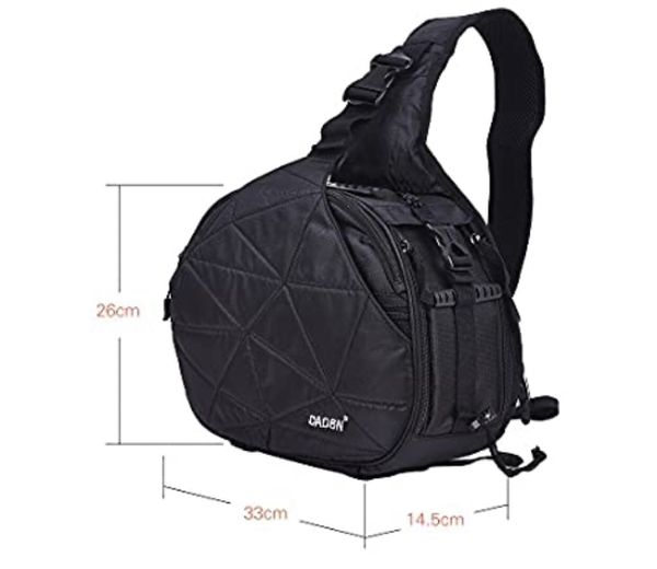 Caden K2 Triangle Shoulder DSLR Camera Bag Case