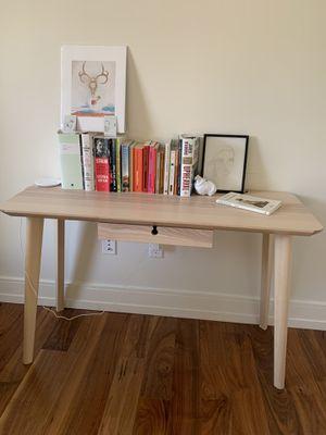 "LISABO desk 46 1/2x17 3/4"" ash veneer, ikea for Sale in Washington, DC"