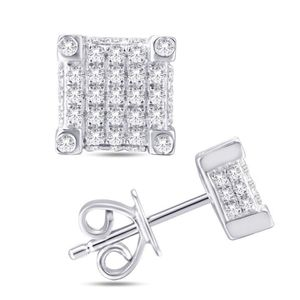 10kt Gold 0.25Ct Diamond Square Ear Ring for Sale in Tucker, GA