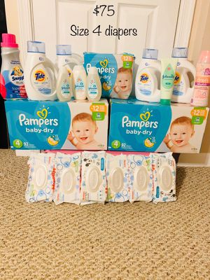Baby Laundry Detergent/Pampers Diapers/Wipes for Sale in Baltimore, MD