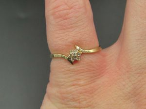 Size 5.75 10K Gold Yellow Flower Diamond Band Ring Vintage Estate Wedding Engagement Anniversary Gift Idea Beautiful Elegant Unique Cute for Sale in Lynnwood, WA