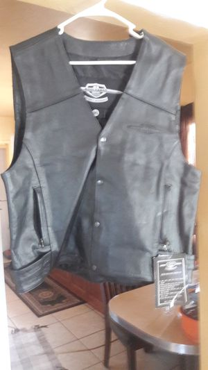 Leather motorcycle vest for Sale in Long Beach, CA