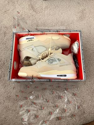 Jordan 4 Off White Brand New Never Worn Size 9 Mens for Sale in Shelby Charter Township, MI