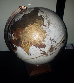 I have two 12 inch rotating desktop globes in excellent condition and raised landscape. Asking 75 each or take both for 100 for Sale in Morton Grove, IL