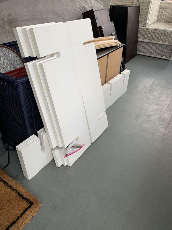 Tall White Bookshelf - Crate And barrel
