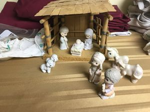 Precious moments nativity. 9 pc set for Sale in Brook Park, OH