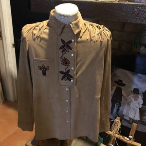 New Double D Ranch 100% Leather Shirt for Sale in Fort Worth, TX