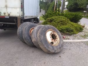 Four 22.5 tires and rims for way for Sale in Elkins, WV