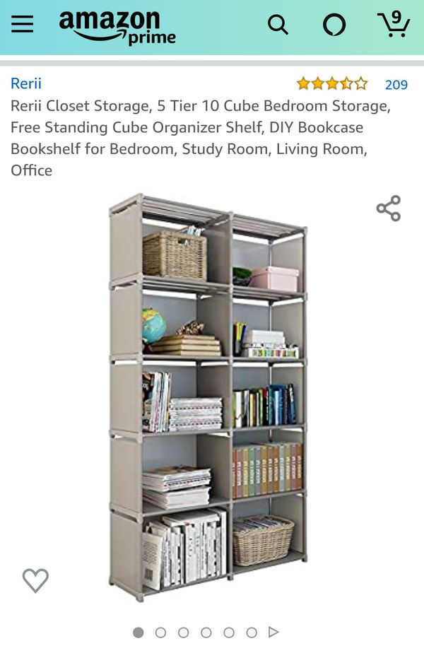 cube storage shelf and storage boxes