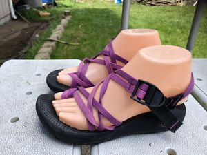 Chaco Women's Purple Double Straps Thong Toe Loop Sandals Size W6 for Sale in Kent, WA