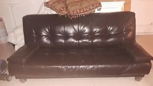 Leather futon for Sale in Lake Worth, FL