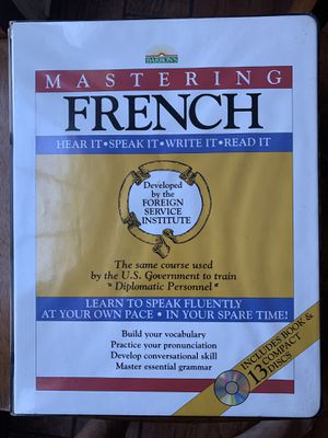 Mastering french with 13 cd for Sale in Durham, NC