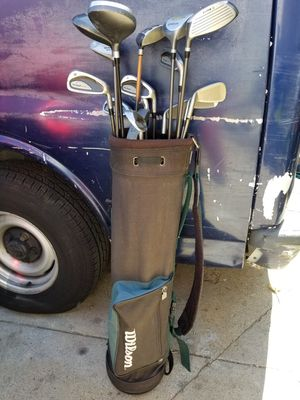 Golf clubs made by Wilson. In great condition very clean. Lots of clubs to choose from.. for Sale in Alhambra, CA