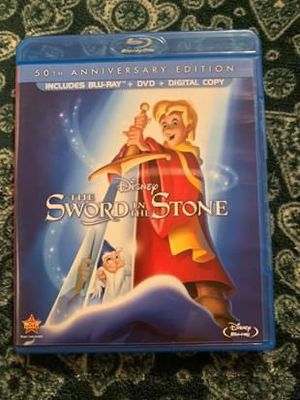 Disney animated sword in the stone Blu-ray bluray movie for Sale in Oregon City, OR