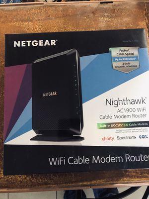 Netgear Nighthawk C7000 V2 wifi cable modem for Sale in Farmington, NM