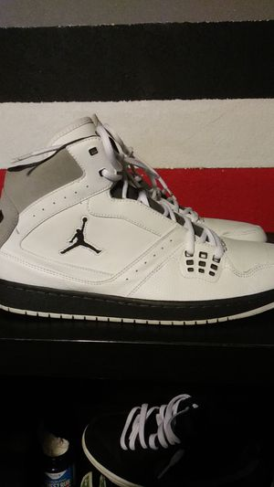 Nike Mens Air Jordan 1 Flight Basketball Shoes White for Sale in San Diego, CA