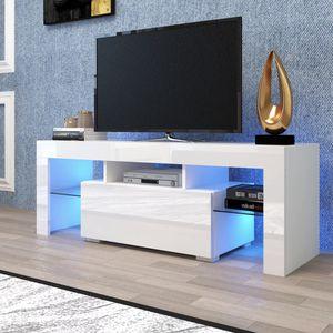 "New 52"" tv stand in box fits tv up to 65"" with LED lights for Sale in Fort Lauderdale, FL"