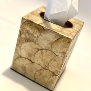 Gold Capiz Shell Tissue Box for Sale in Glendale, AZ