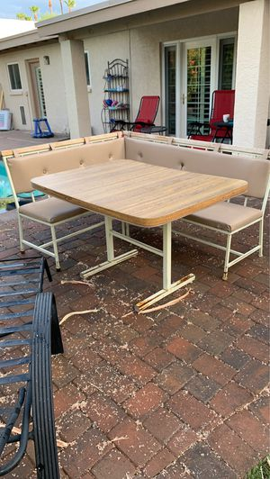 Patio set with benches for Sale in Scottsdale, AZ