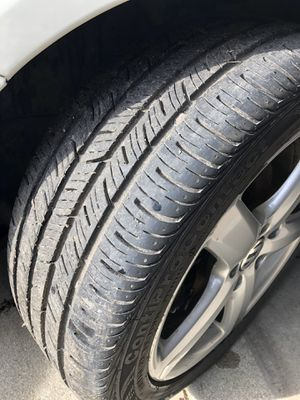 VW rims and tires 5x112 with 17 inch Continental tires for Sale in Countryside, IL