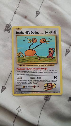 Pokemon evolutions secret rare imakuni?'s doduo for Sale in Spanaway, WA