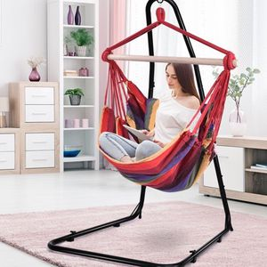#202- Hammock Rope Chair Patio Porch Yard Tree Hanging Air Swing Red for Sale in Los Angeles, CA