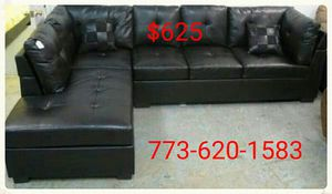 Black leather sectional! NEW!!!! for Sale in Chicago, IL