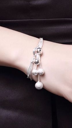 Beautiful Silver polished finished bracelet Y-shaped for Sale in Alexandria,  VA