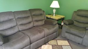Reclining sectional with sofa and rocking reclining chair for Sale in Portland, OR