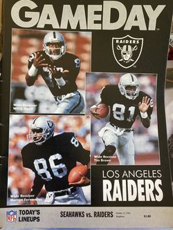 Seahawks vs Raiders Gameday Program from October 13, 1991 in the Kingdome for Sale in Redmond,  WA
