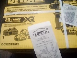 Dewalt Drill combo hammer impact brushless for Sale in Los Angeles, CA