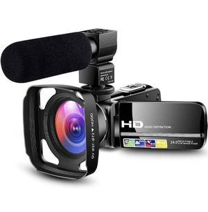Camcorder Video Camera Ultra HD 1080P Vlogging YouTube Digital Recorder Camera with Powerful Microphone, Lens Hood, Separate Battery Charger, 2 Batte for Sale in Corona, CA