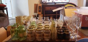 Wedding Decoratios Mason Jars Glitter for Sale in Orlando, FL