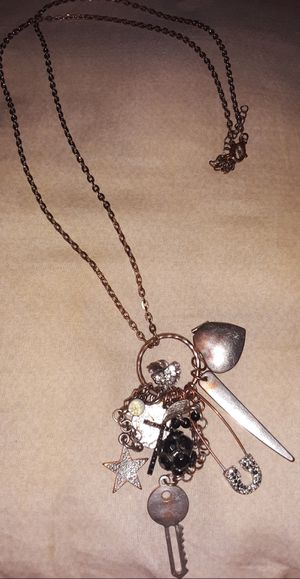 Multiple Charms Long Necklace for Sale in Atwater, CA