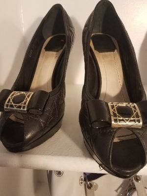 Christian Dior black leather heels for Sale in Silver Spring, MD