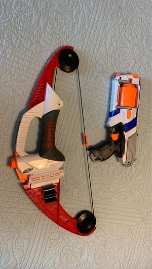Nerf gun and bow for Sale in Pearland, TX